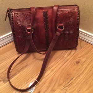 Alcala Hand Tooled Leather Bag
